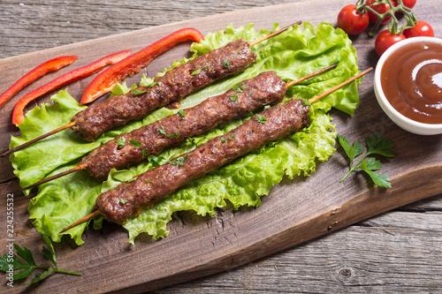 Shish kebab or lula-kebab