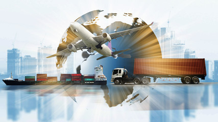 transportation world business,industry of logistic , import export supply or shipping business