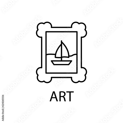 relaxation in art icon. Element of recreation icon for mobile concept and web apps. Thin line relaxation in art icon can be used for web and mobile