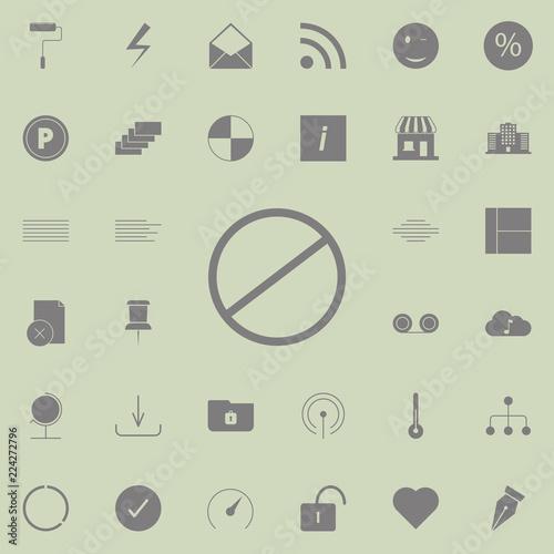 Fotografía  restricted, vector design site icon