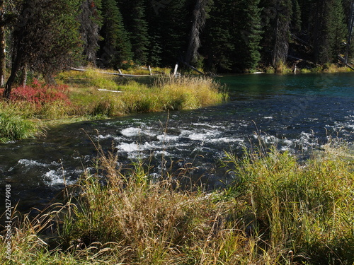 Photo  Fall at Blue Hole on the Deschutes River