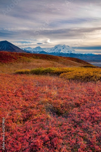 Lenticular clouds beside Mount Denali View in Autumn