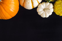 Pumpkin Variety On Black Table