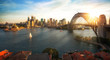 Leinwandbild Motiv Sydney harbour and bridge in Sydney city