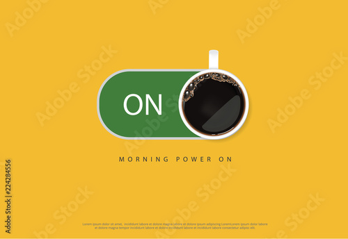 Coffee Poster Advertisement Flayers Vector Illustration Canvas Print