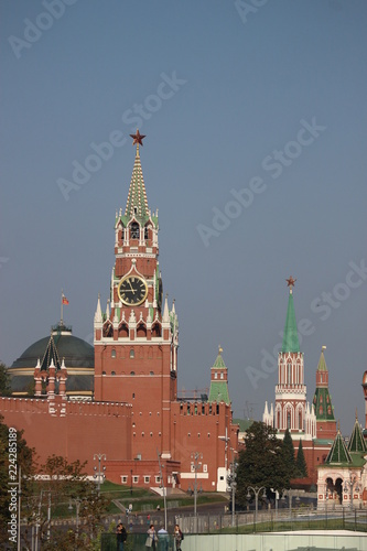Amazing view to Kremlin towers and Red square, Moscow, Russia