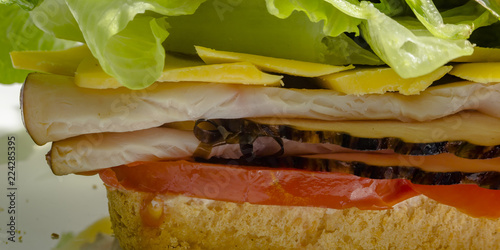 Fotografie, Obraz  Close range and partial view of a deli sandwich