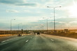 Car driving on highway road in concept travel automotive sky concept automobile street and drive transport traffic and then nature modern sport motor