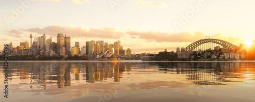 Staande foto Sydney Cityscape of Sysney harbour and bridge