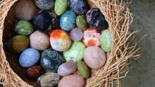 A Nest Of Colorful Semi-precious Gemstone Pebbles