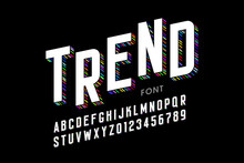 Modern Font Design, Alphabet Letters And Numbers