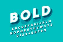 Modern Bold Font Design, Alpha...