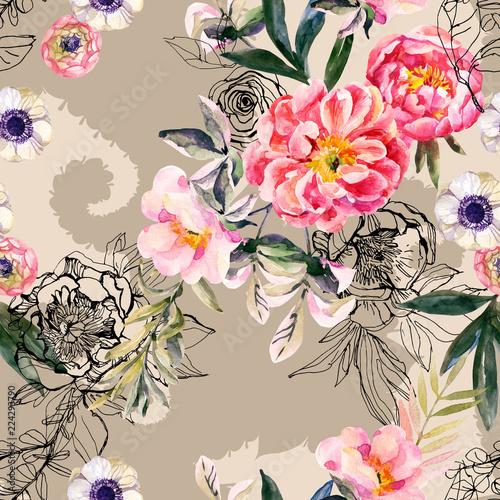 akwarela-i-atrament-doodle-kwiaty-liscie-chwasty-na-paisley-sylwetka-wzor