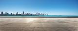 empty ground with skyline