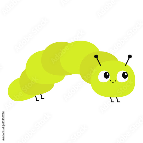 Fotomural  Caterpillar insect icon