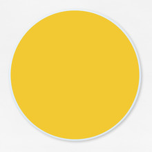 Round Empty Yellow Circle Vector Illustration