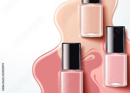 Fotomural Fashion pink nail lacquer