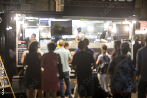 Carta da parati Food Truck Festival Blurred On Purpose