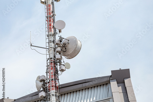 Fotografie, Tablou  Telecommunication equipment repeater antenna