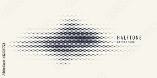 Fotografie, Obraz  Monochrome printing raster, abstract vector halftone background