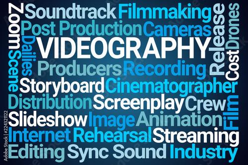 Fotografie, Obraz  Videography Word Cloud