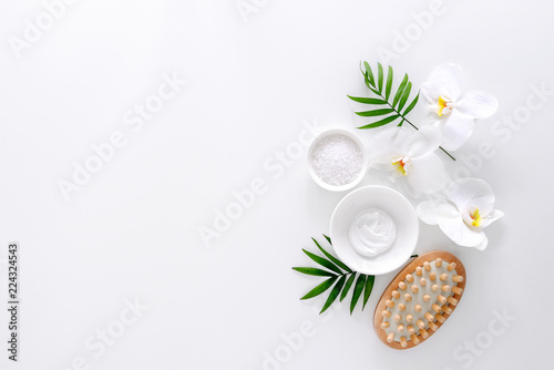 Recess Fitting Spa Spa background with a space for a text