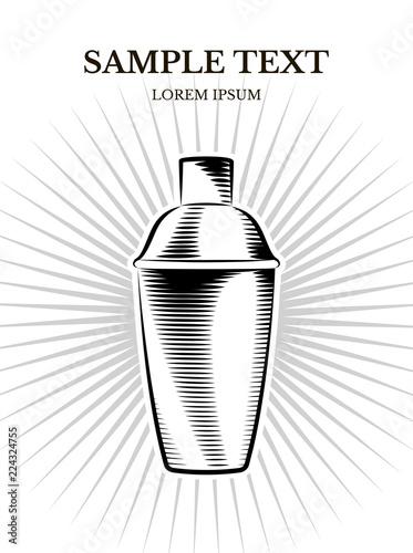 Photo vector banner design of shaker