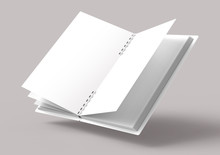 Floating White Hard Cover Book