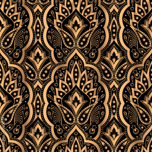 Luxury Background Vector Paisley Royal Pattern Seamless