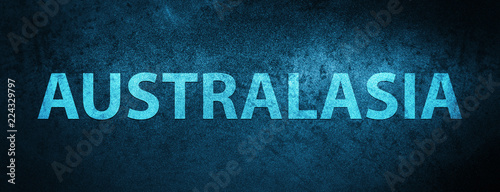 Australasia special blue banner background Canvas Print