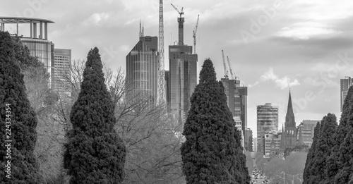 Melbourne city view from Shrine of Remembrance, Victoria, Australia