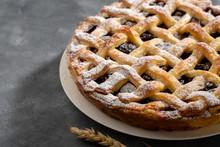 Sweet Fruit Pie Close-up