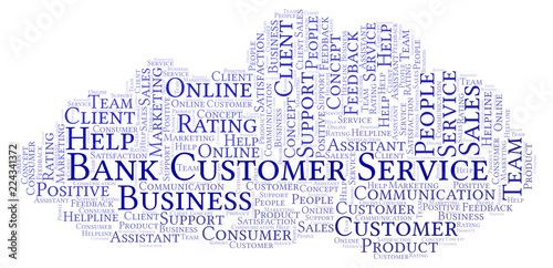 Bank Customer Service word cloud.
