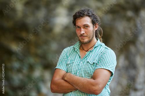 Fotografie, Obraz  Young rastafari in closeup outdoor