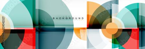 Fotografía Abstract background - multicolored circles, trendy minimal geometric design