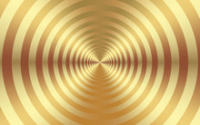 Abstract Golden Background With The Metallic Texture Of Gold In Concentric Circles. Targets Concept, Business Goals Concept For Creative Templates, Backgrounds And Surface Designs