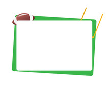American Football Green Frame Isolated