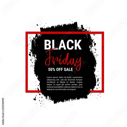 Fototapety, obrazy: Black friday sale banner. Business poster