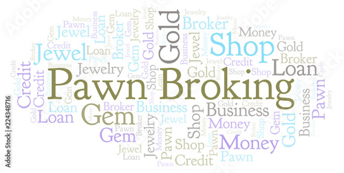 Fotografie, Obraz  Pawn Broking word cloud.