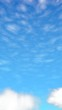 Blue sky background with white clouds. Abstraction group of clouds on clear blue sky on sunny day. 3D illustration