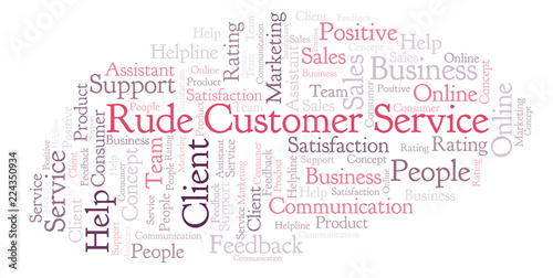 Fotografie, Obraz  Rude Customer Service word cloud.