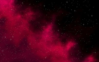Colorful and beautiful space background. Outer space. Starry outer space texture. Templates, red background. 3D illustration