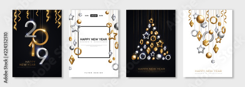 Canvas Print New Year posters set