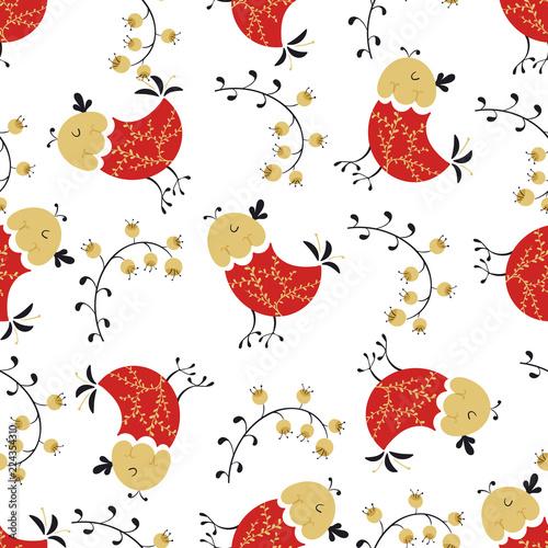 Fotografija  Folk seamless pattern