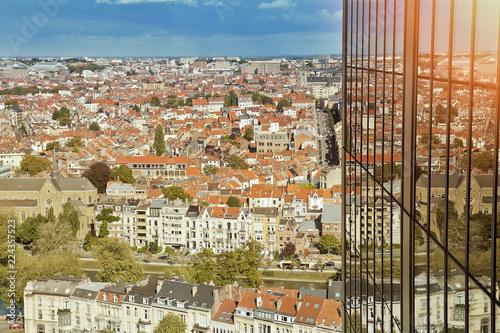 Bruxelles, quartier Louise, vue aérienne