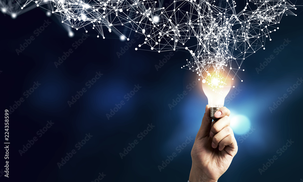 Fototapety, obrazy: Innovative idea in businessman hand