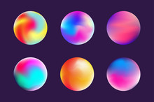 Set Gradient Colorful Sphere I...
