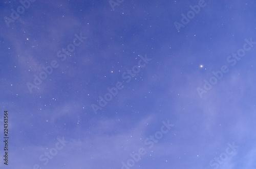 Valokuva  Cielo de anochecer estrellado