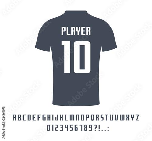 Sport universal font for soccer, football, baseball or basketball team logo, t-shirt Poster Mural XXL