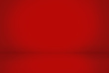 Red Gradient Abstract Wall And Studio Room Background, Can Be Presented Your Product